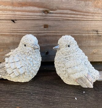 Set of 2 Fluffy Feather Birds