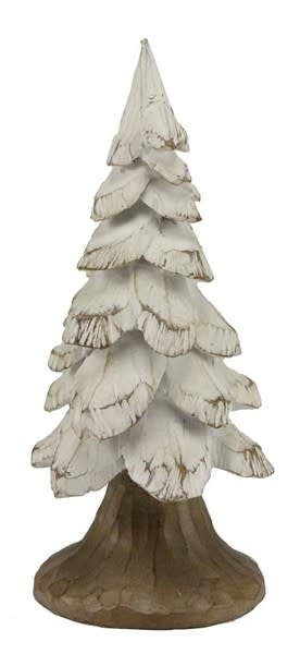 White Carved Christmas Tree (2-Sizes)
