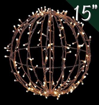 """15"""" LED Indoor Outdoor Hanging Sphere"""