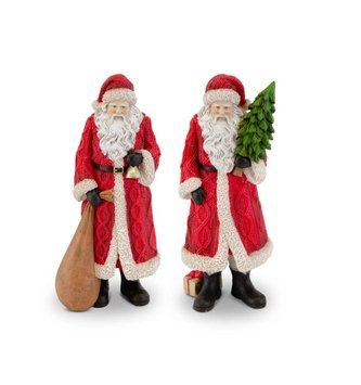 Small Red Traditional Resin Santa (2-Styles)