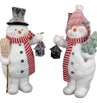 Mr Mrs Frosty the Snowman Couple
