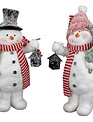 Mr Mrs Frosty the Snowman Couple