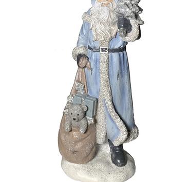 Vintage Blue Santa w/ Toy Bag