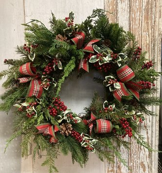 Custom Mountain Berry Wreath