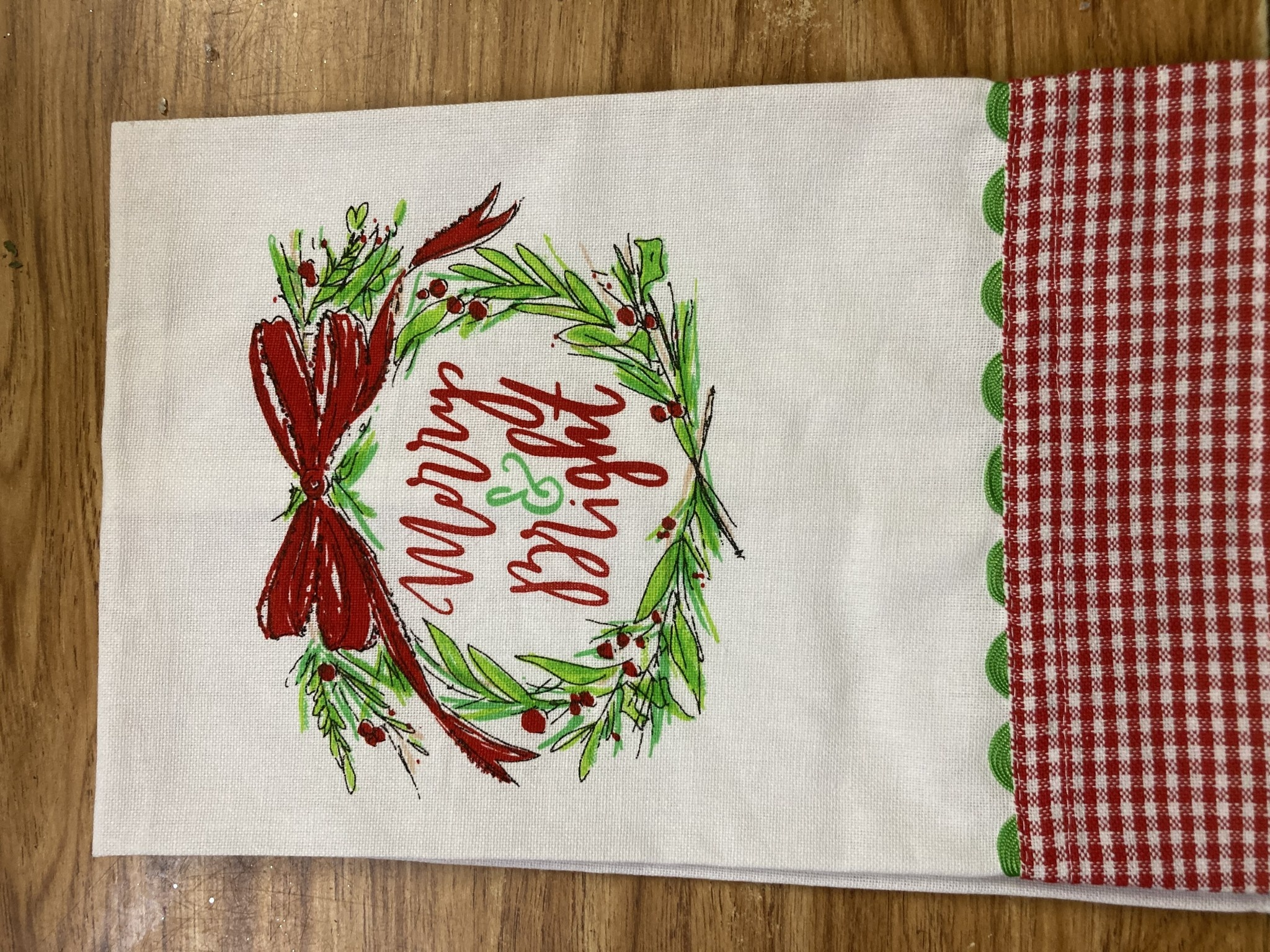 Merry & Bright Tea Towel