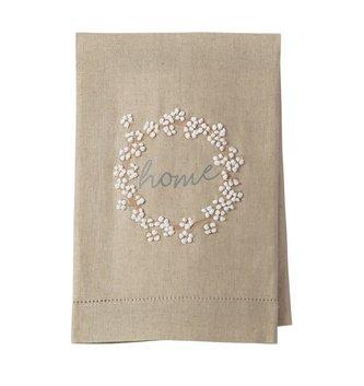 Cotton Wreath Home Tea Towel