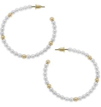 Pearl Allie Hoop Earrings