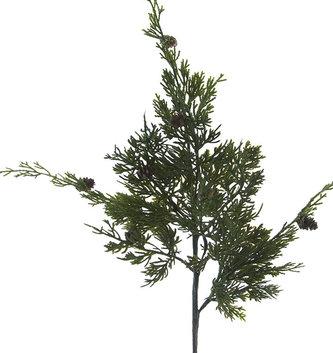 """25"""" Cedar Pine Spray With Cones"""