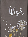Embroidered Wish Dandelion Towel