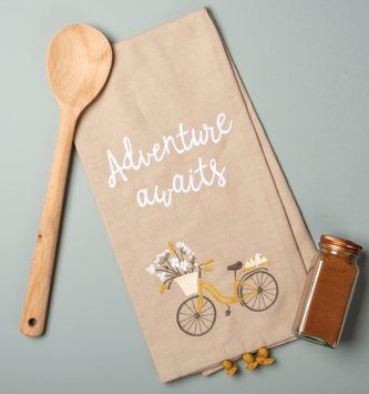 Embroidered Adventure Awaits Towel