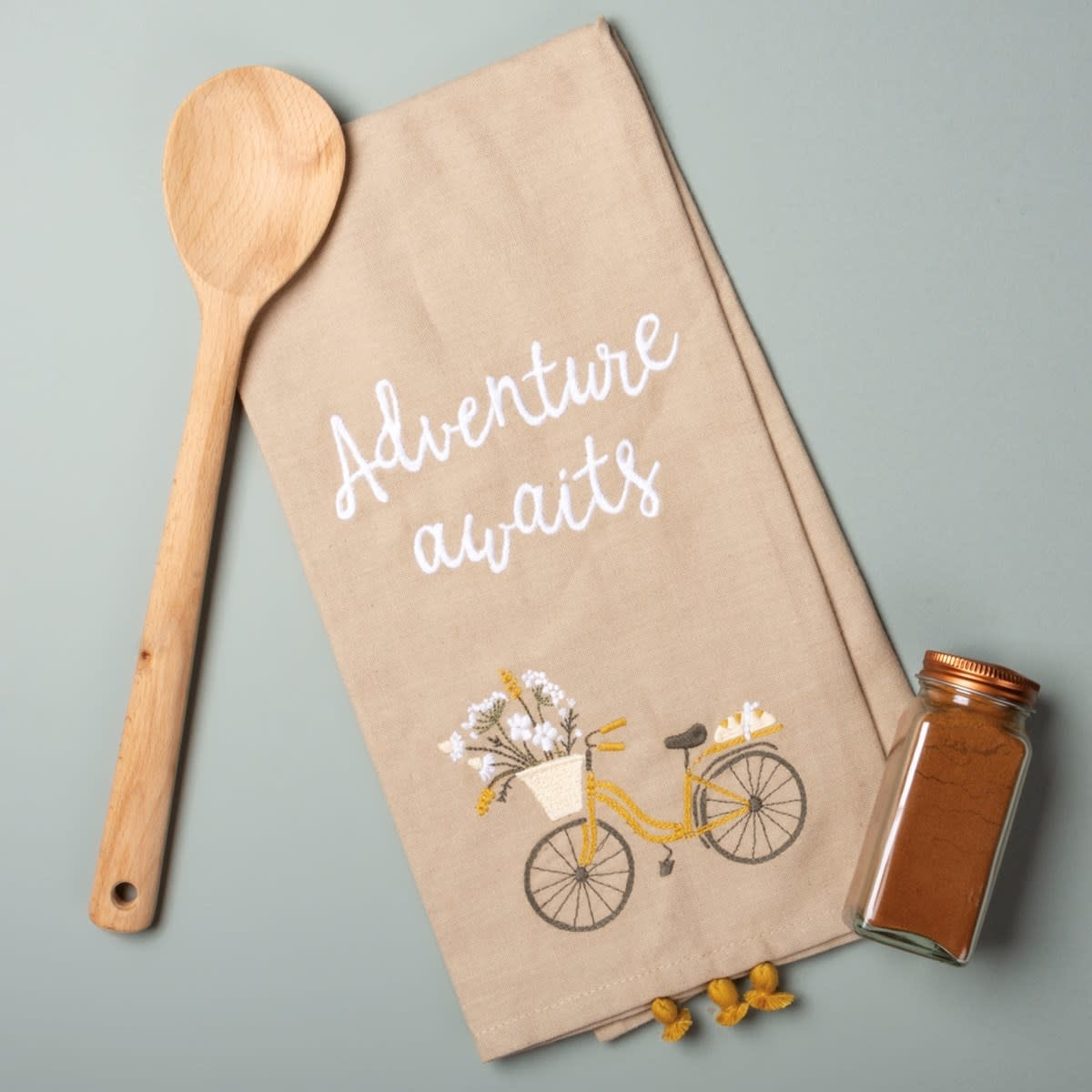 Embroidered Adventure Awaits Towel
