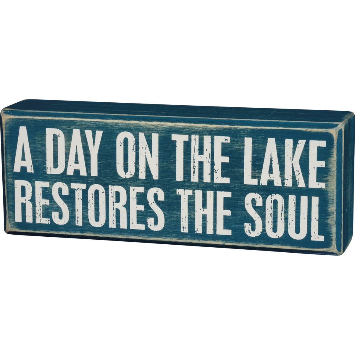 A Day on the Lake Block Sign