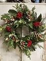 Holly & Berry Christmas Wreath