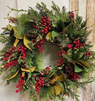 Custom Multiberry Christmas Wreath