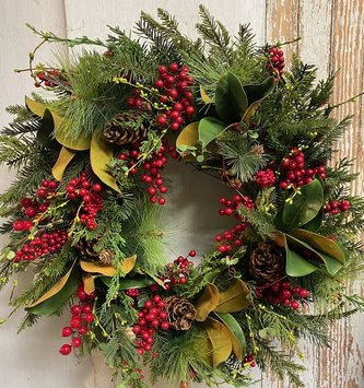 Custom Multiberry Christmas Wreath