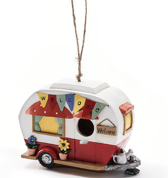 Colorful Retro Camper Birdhouse