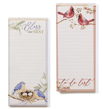 Magnetic Bird Note Pad (2-Styles)