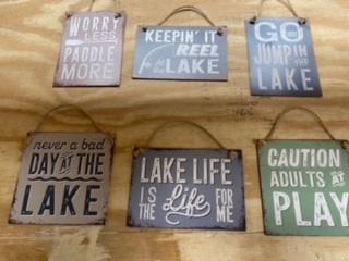Metal Mini Lake Signs (6-Styles)