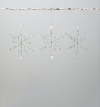 Silver Beaded Hanging Snowflake (3-Styles)
