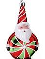 Peppermint Candy Santa Ornament