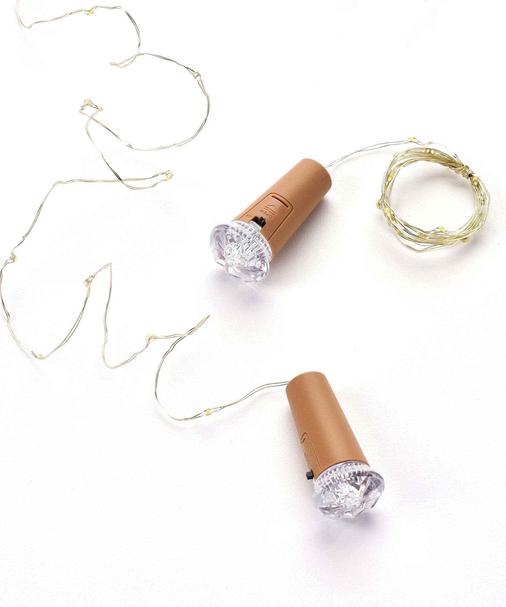 LED Wine Cork String Light (2-Colors)