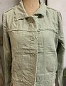 Charlie Paige Distressed Trim Linen Jacket (2-Colors)