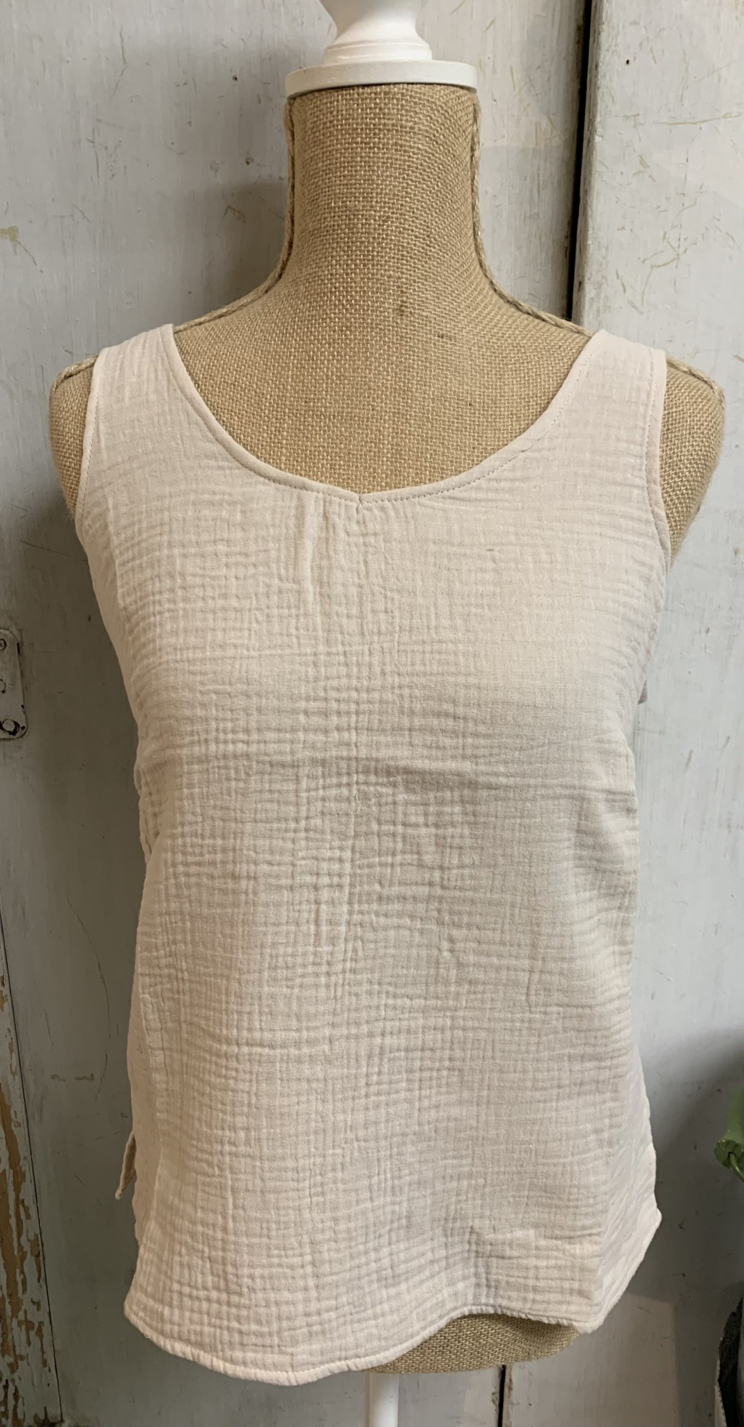 Charlie Paige Cotton Sleeveless Tank By: Charlie Paige (2-Colors)