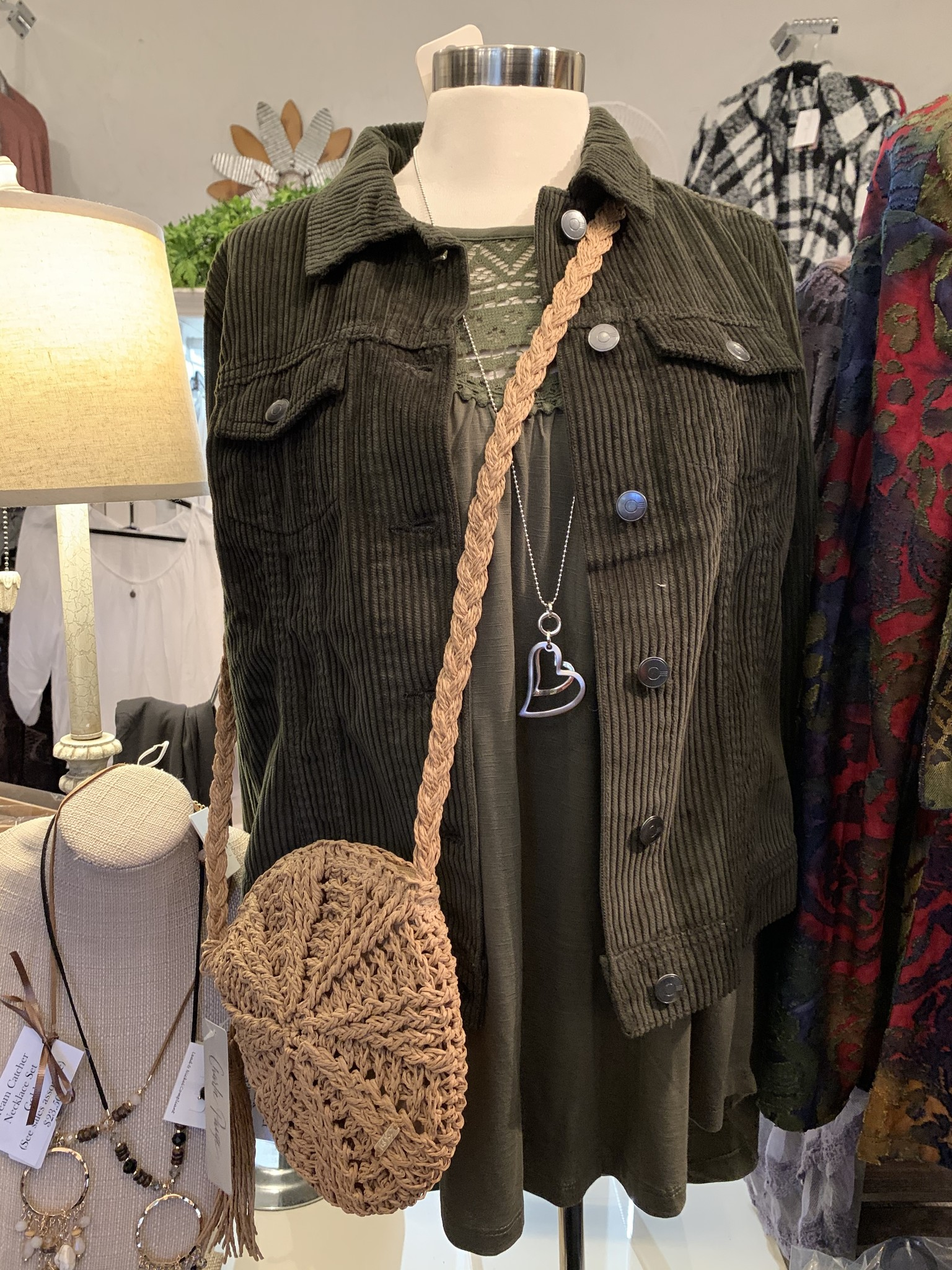 Charlie Paige Round Woven Natural Shoulder Bag