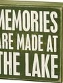 At The Lake Block Sign