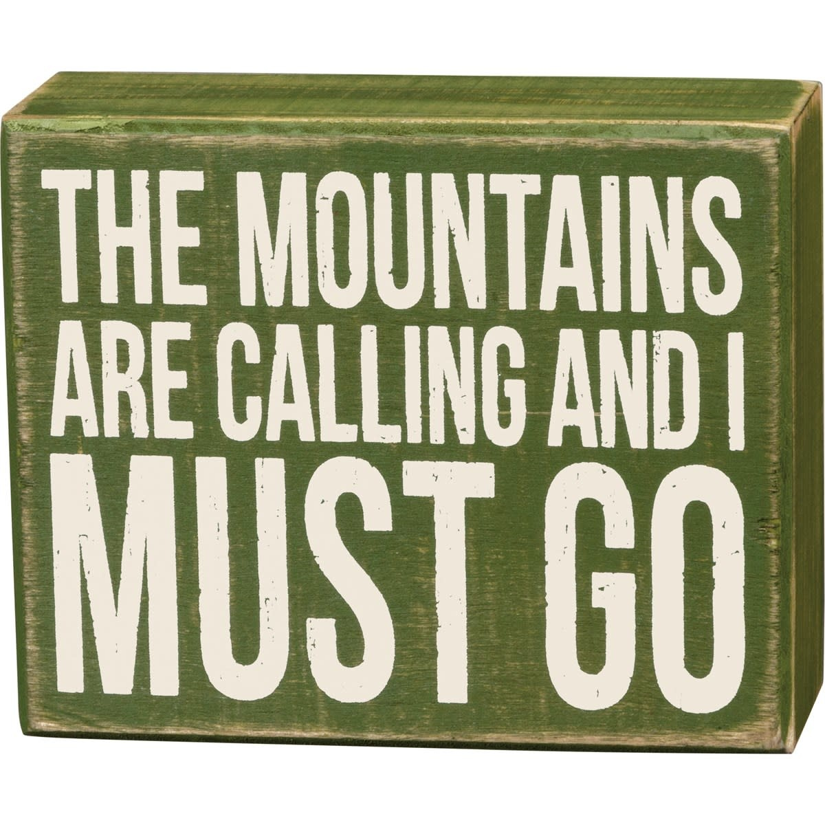 Mountains are Calling Block Sign