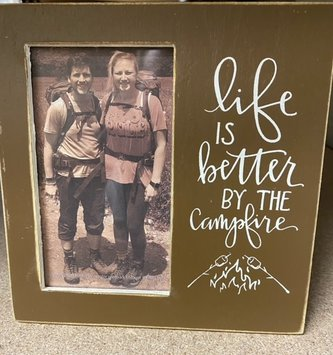 By the Campfire Picture Frame