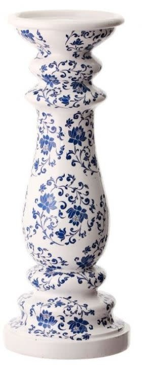 Blue Floral Candle Holder (2-Sizes)