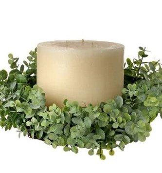 Natural Eucalyptus Candle Ring