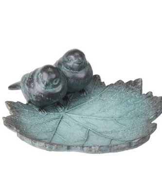 Blue Birds on Leaf Bird Feeder