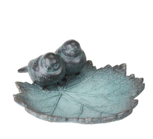 Blue Birds on Leaf Bird Feeder