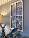 Hydrangea on Window Pane Wall Art