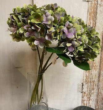 Green Purple Hydrangea Spray