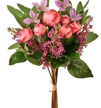 Rosebud & Lilac Bouquet