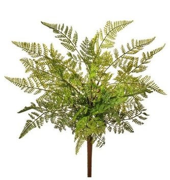 Natural Touch Leather Fern Bush