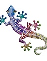 Colorful Metal Wall Gecko (2-Sizes/3-Styles)