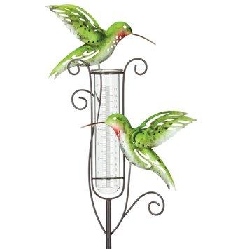 Hummingbird Rain Gauge Stake
