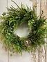 Custom Wild Fern & Bird Nest Wreath