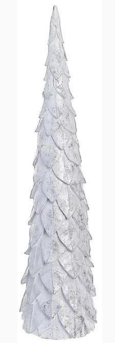 Set of 2 Shimmer Leaf Cone Tree