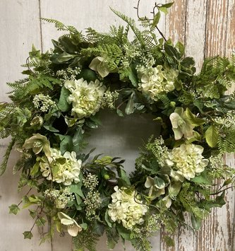Custom Pittosporum & Hellebones Wreath