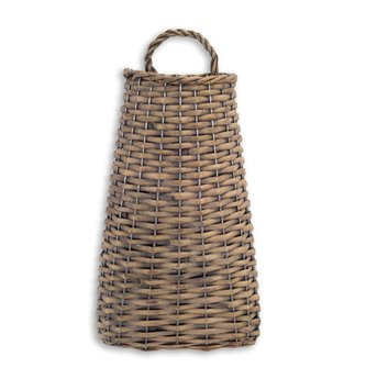 Brown Woven Willow Wall Basket (2-Sizes)