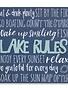 Blue Lake Rules Sign