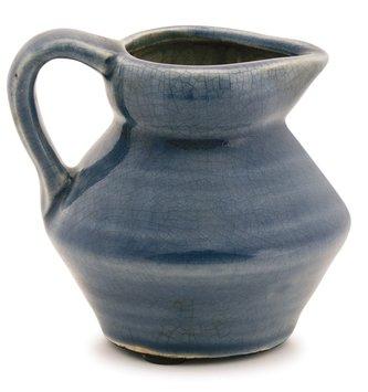 Crackle Mini Blue Pitcher