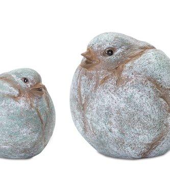 Set of 2 Chubby Green Birds