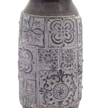 Grey & White Stoneware Vase (2-Sizes)