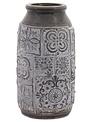 Grey & White Stoneware Vase (2-Sizes)